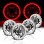 Mazda RX3 1973-1976 Red Halo Tube Sealed Beam Projector Headlight Conversion