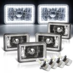 Chevy Cavalier 1984-1987 LED Halo Black LED Headlights Conversion Kit Low and High Beams