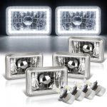 Dodge Diplomat 1986-1989 White LED Halo LED Headlights Conversion Kit Low and High Beams