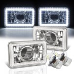 Plymouth Caravelle 1985-1988 White LED Halo LED Projector Headlights Conversion Kit