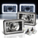 Chevy Cavalier 1984-1987 White LED Halo Black LED Projector Headlights Conversion Kit