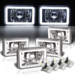 1984 Chrysler Laser Halo Tube LED Headlights Conversion Kit Low and High Beams