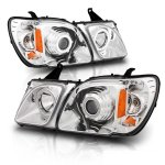 Lexus LX470 1998-2007 Projector Headlights Chrome  Halo LED