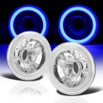 Jeep Wrangler 1997-2006 Blue Halo Tube Sealed Beam Projector Headlight Conversion