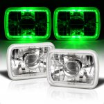 Dodge Rampage 1982-1983 Green Halo Sealed Beam Projector Headlight Conversion
