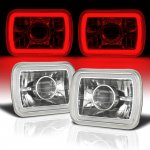 Dodge Rampage 1982-1983 Red Halo Tube Sealed Beam Projector Headlight Conversion