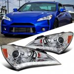 Hyundai Genesis 2010-2012 Chrome Projector Headlights LED DRL