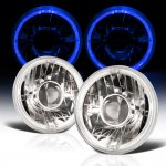 Jeep Wrangler 1997-2006 Sealed Beam Projector Headlight Conversion Blue Halo