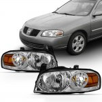 Nissan Sentra 2004-2006 Chrome Euro Headlights