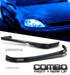 Honda Civic 1996-1998 Mugen Style Front Lip and Rear Lip Combo