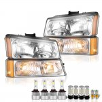 Chevy Silverado 2500HD 2003-2006 Headlights LED Bulbs Complete Kit