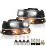 2000 Chevy Suburban Black Headlights LED Bulbs Complete Kit