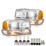 GMC Sierra 2500HD 2001-2006 LED Headlight Bulbs Complete Kit