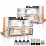 Chevy Silverado 1988-1993 Headlights LED Bulbs Complete Kit