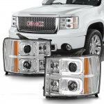 2009 GMC Sierra LED DRL Projector Headlights