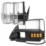 Chevy Silverado 2500HD 2001-2002 Chrome Power Folding Towing Mirrors Smoked LED Lights