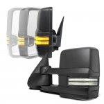 Chevy Avalanche 2003-2005 Power Folding Tow Mirrors Smoked Switchback LED DRL Sequential Signal