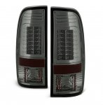 Ford F550 Super Duty 2008-2014 Smoked LED Tail Lights