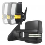 Toyota Sequoia 2008-2020 Power Folding Tow Mirrors Smoked Switchback LED DRL Sequential Signal