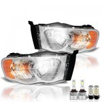 2005 Dodge Ram LED Headlight Bulbs Set Complete Kit