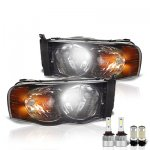 Dodge Ram 2002-2005 Smoked LED Headlight Bulbs Set Complete Kit