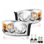 Dodge Ram 2006-2008 LED Headlight Bulbs Set Complete Kit