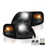 1999 Ford Expedition Smoked LED Headlight Bulbs Set Complete Kit