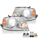 2005 Ford F150 LED Headlight Bulbs Set Complete Kit