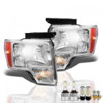 2013 Ford F150 LED Headlight Bulbs Set Complete Kit