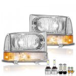 Ford F250 1999-2004 LED Headlight Bulbs Set Complete Kit