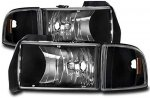 Dodge Ram 1994-2001 Black Headlights Corner Lights