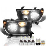 Toyota Tundra 2007-2013 Black LED Headlight Bulbs Set Complete Kit