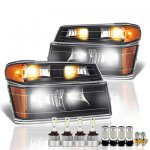 Chevy Colorado 2004-2012 Black LED Headlight Bulbs Set Complete Kit
