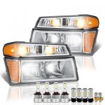 Chevy Colorado 2004-2012 LED Headlight Bulbs Set Complete Kit