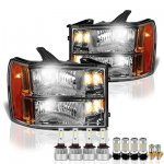 GMC Sierra 2007-2013 Headlights LED Bulbs Complete Kit