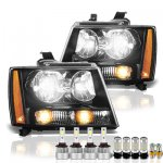 Chevy Tahoe 2007-2014 Black Headlights LED Bulbs Complete Kit