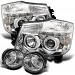 Nissan Titan 2004-2012 Clear Projector Headlights and Fog Lights