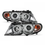 2003 BMW E46 Sedan 3 Series Clear Halo Projector Headlights