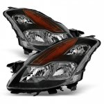 Nissan Altima Coupe 2008-2009 Black Headlights