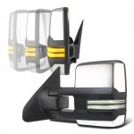 Toyota Tundra 2007-2021 Chrome Power Folding Tow Mirrors Smoked Switchback LED DRL Sequential Signal