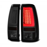 GMC Sierra 3500 2001-2006 Smoked LED Tail Lights Tube