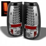 GMC Sierra 1999-2006 Chrome LED Tail Lights