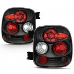Chevy Silverado Stepside 1999-2004 Black Altezza Tail Lights