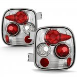 2002 GMC Sierra Stepside Clear Altezza Tail Lights