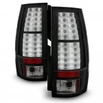GMC Yukon XL 2007-2014 Black LED Tail Lights