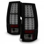 GMC Yukon XL 2007-2014 Black Smoked LED Tail Lights