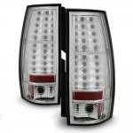 GMC Yukon Denali 2007-2014 Red and Clear LED Tail Lights