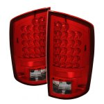 Dodge Ram 2500 2003-2006 Red and Clear LED Tail Lights