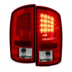 Dodge Ram 2002-2006 Red Clear LED Tail Lights