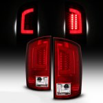 Dodge Ram 3500 2003-2006 Red and Clear LED Tail Lights Tube